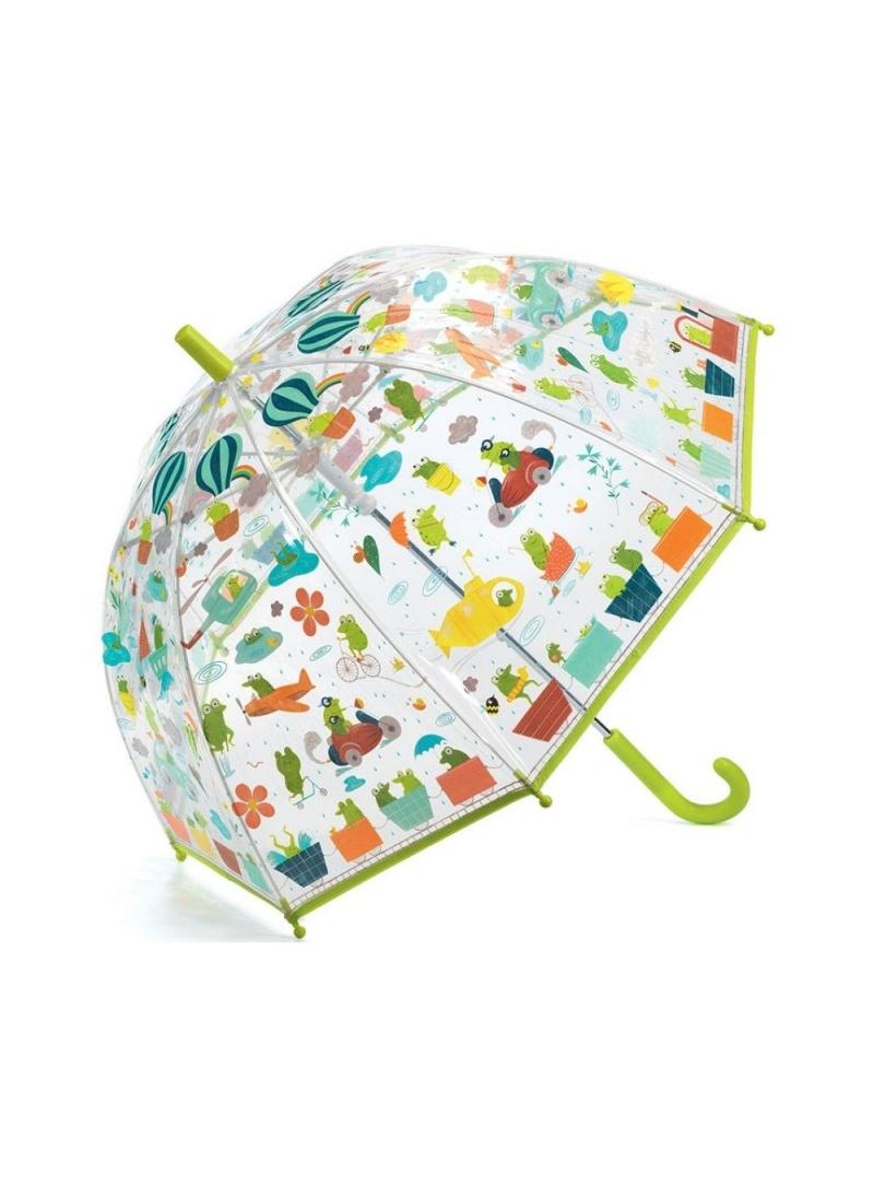 Przezroczysta Parasolka Dziecięca Z Żabkami DJECO Żabki 04808