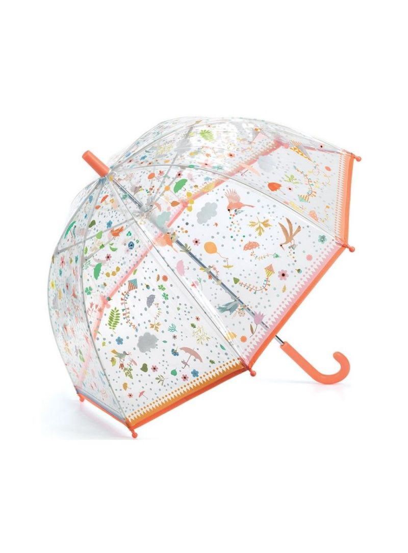 Przezroczysta Parasolka Dziecięca z Ptaszkami DJECO 04805 Wiosna