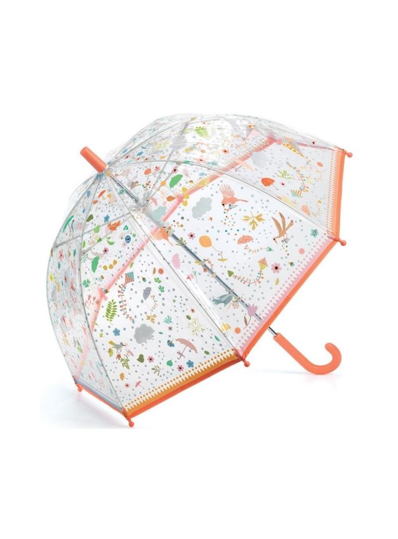 Transparent Children's Umbrella with Birds DJECO 04805 Spring