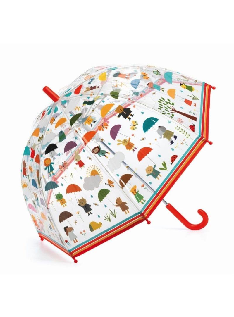 Transparentna Parasolka Dziecięca ze Zwierzątkami DJECO W Deszczu 04809