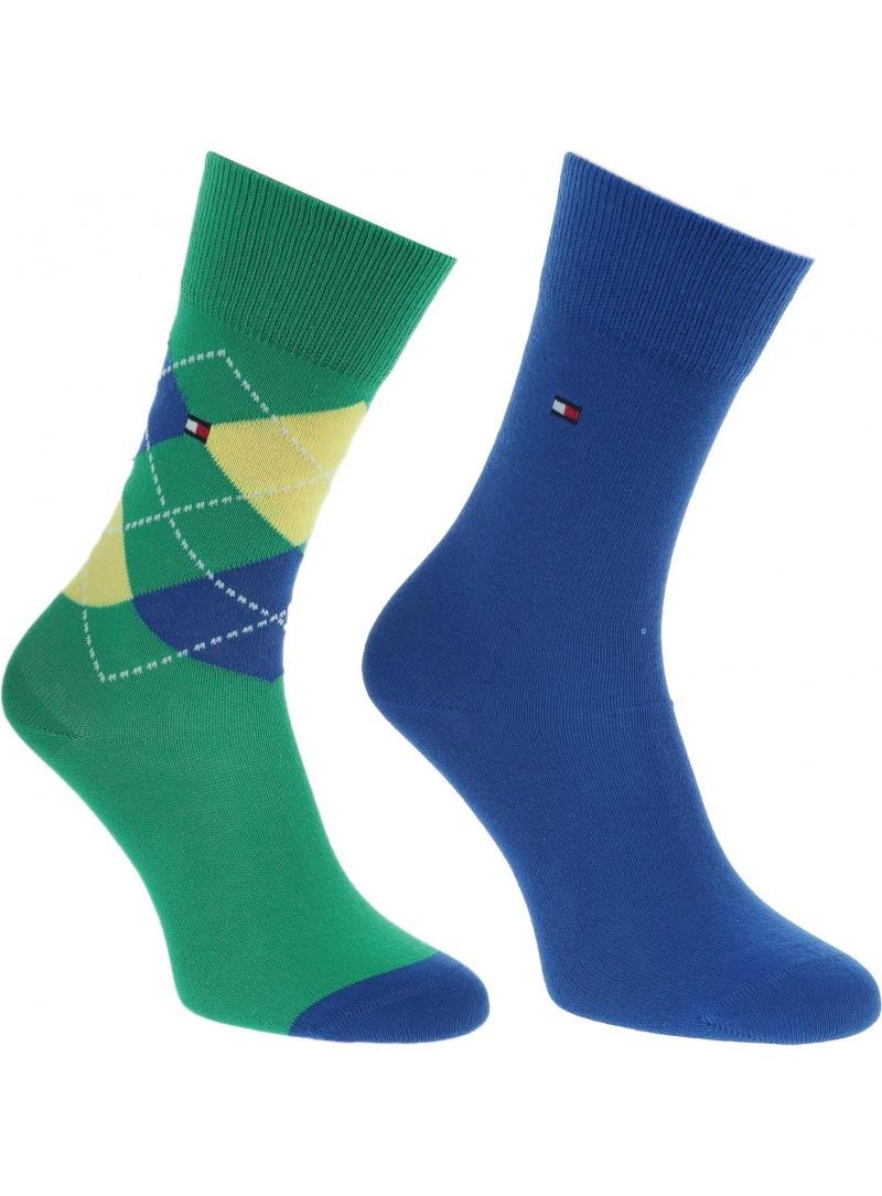 Zielone Kolorowe Skarpetki TOMMY HILFIGER Kids 334013001 (2-PAK)