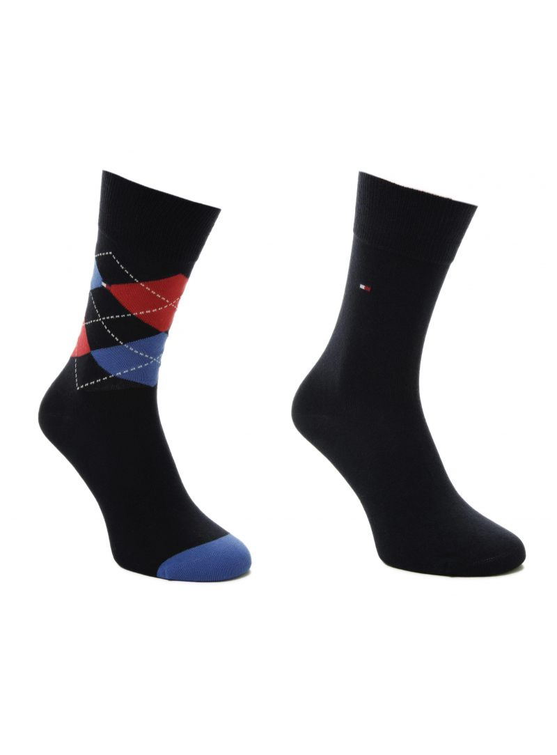 TOMMY HILFIGER Kids Original Argyle Sock Midnight blue