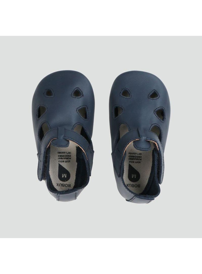 Granatowe Kapcie Skórzane BOBUX SOFT SOLE NAVY ZAP 1013-000-01