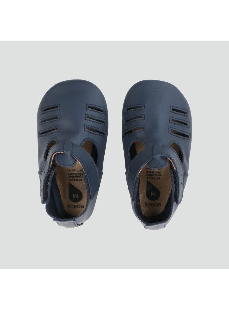 Granatowe Kapcie Skórzane BOBUX SOFT SOLE NAVY CHASE 1007-000-01