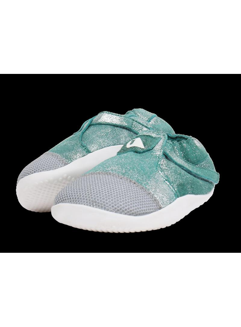 Błyszczące buty z ociepleniem BOBUX 500519 XPLORER ORIGIN ARCTIC AQUA