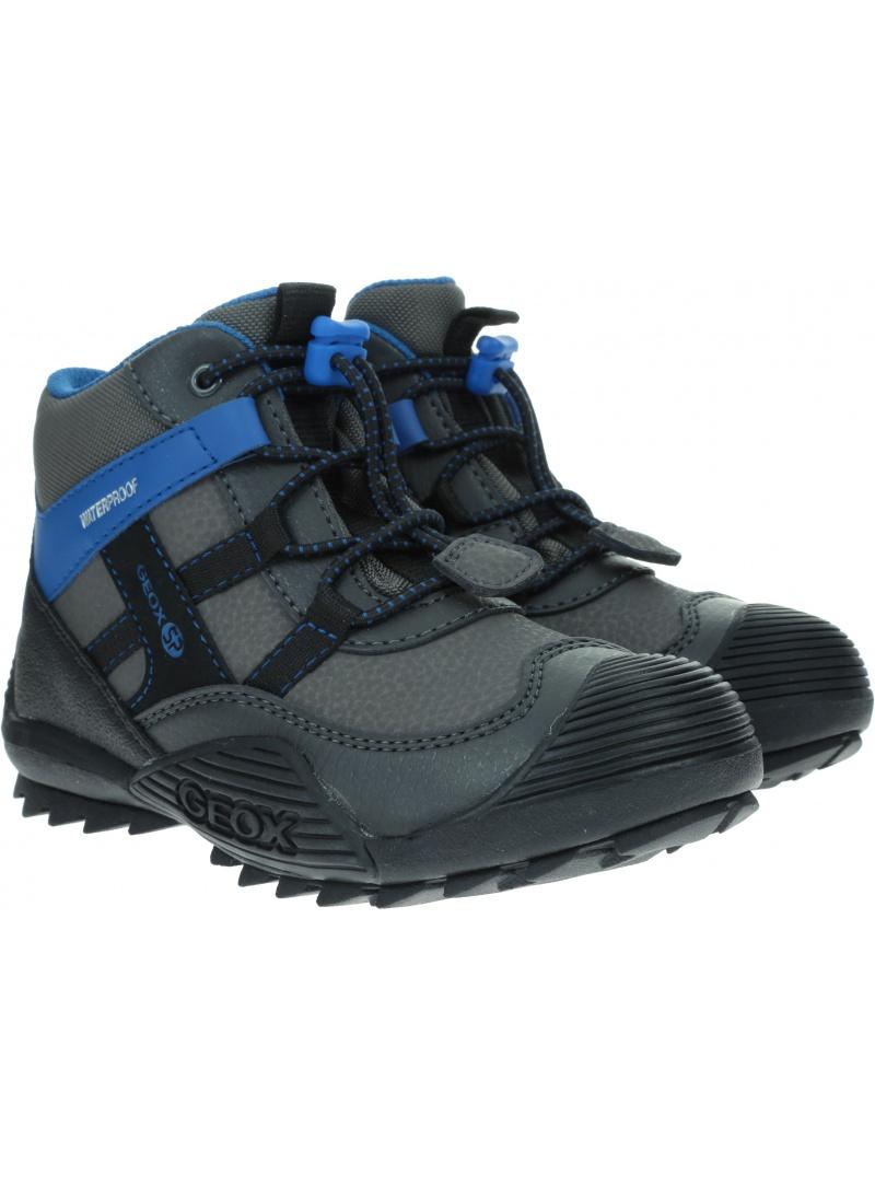 Szare Śniegowce GEOX J Atreus B.B Waterproof A J847GA 050ME C0071