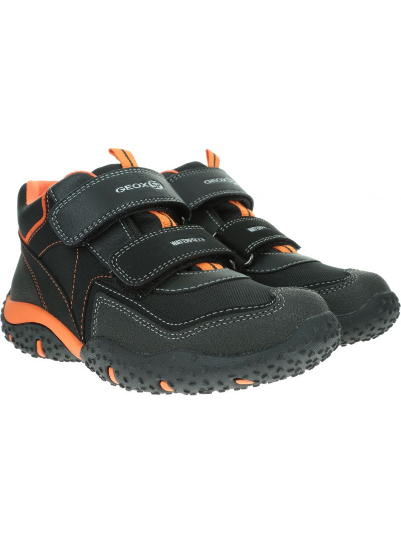 Czarne Śniegowce Geox B Baltic Waterproof J842YA 004FU C0038 Black/Orange