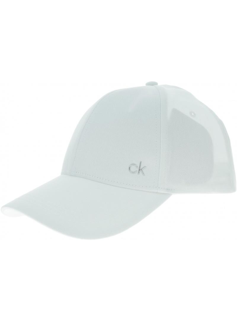 Biała Czapka Z Daszkiem CALVIN KLEIN JEANS Ck Metal Cap K60K605517 101