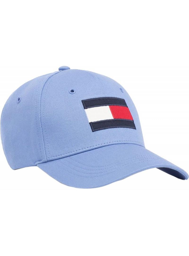 Niebieska Czapka z Daszkiem TOMMY HILFIGER Big Flag Cap AM0AM04508 417