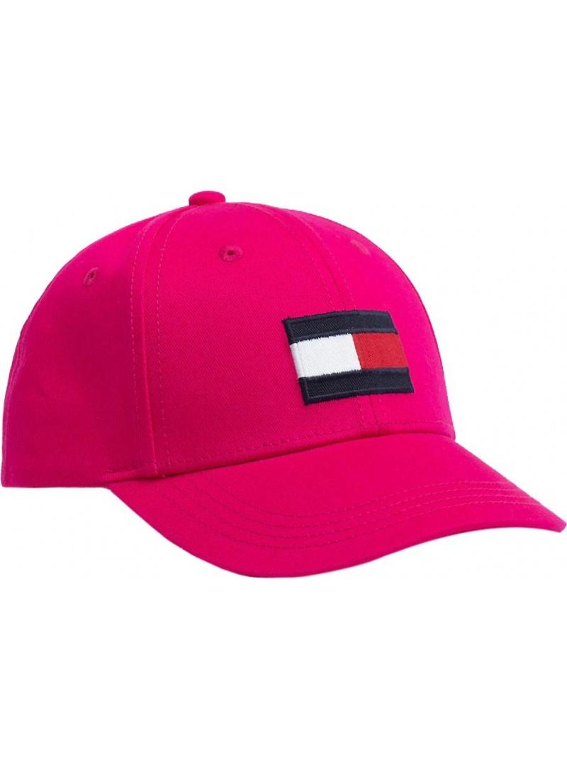 Różowa Czapka Dziecięca TOMMY HILFIGER Big Flag Cap AU0AU00553 676