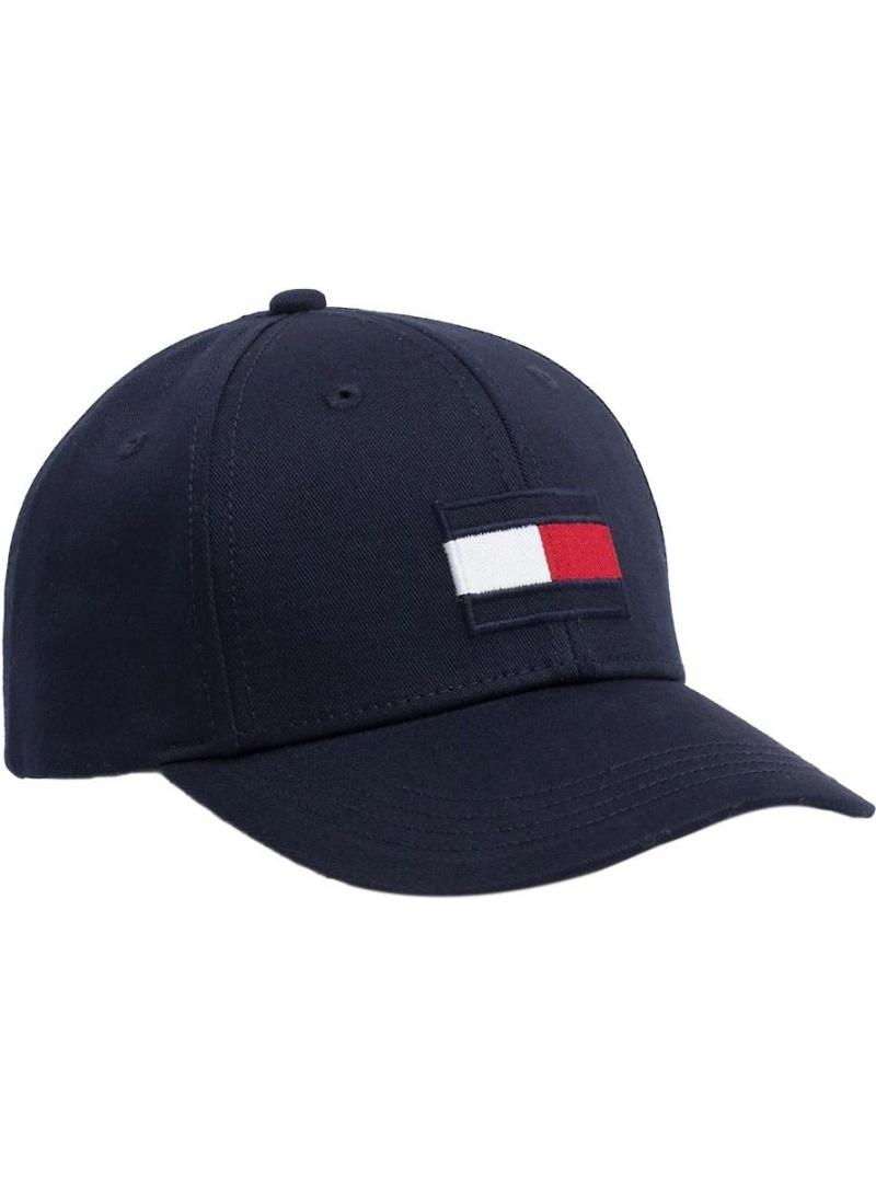 Granatowa Czapka Dziecięca TOMMY HILFIGER Big Flag Cap AU0AU00553 413