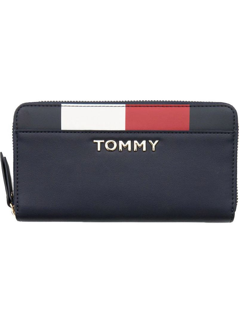 Duży Portfel Damski TOMMY HILFIGER Th Corporate Lrg Za AW0AW06843 413