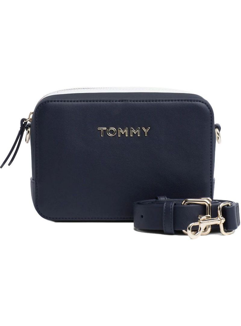 Granatowa Torebka TOMMY HILFIGER Th Corporate Crossover AW0AW06812 413