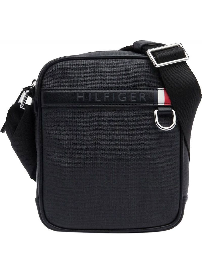 TOMMY HILFIGER Coated Canvas Mini Reporter AM0AM04772 002