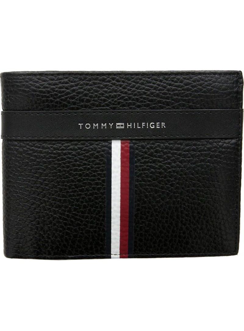Duży Portfel Męski TOMMY HILFIGER Corporate Leather Cc AM0AM04809 002