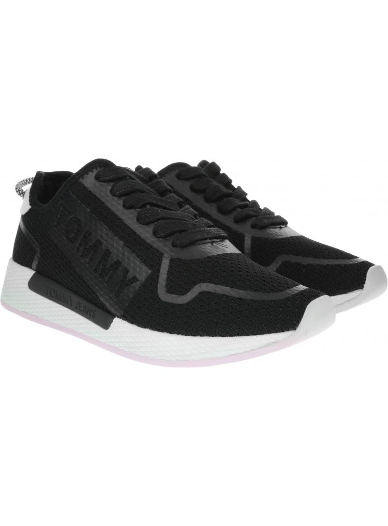 Czarne Sneakersy Tommy Hilfiger Technical Flexi Sneaker EN0EN00587 BDS