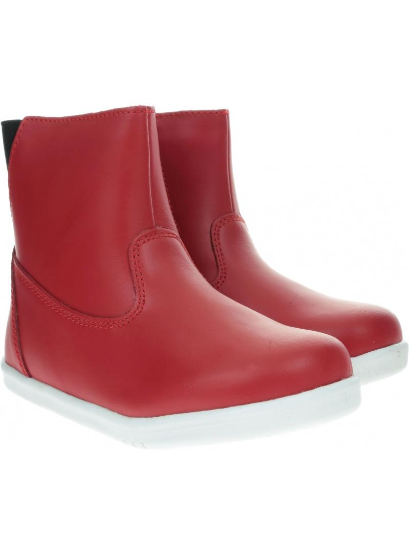 Czerwone Wodoodporne Botki BOBUX 835201 CLASSIC PADDINGTON RED