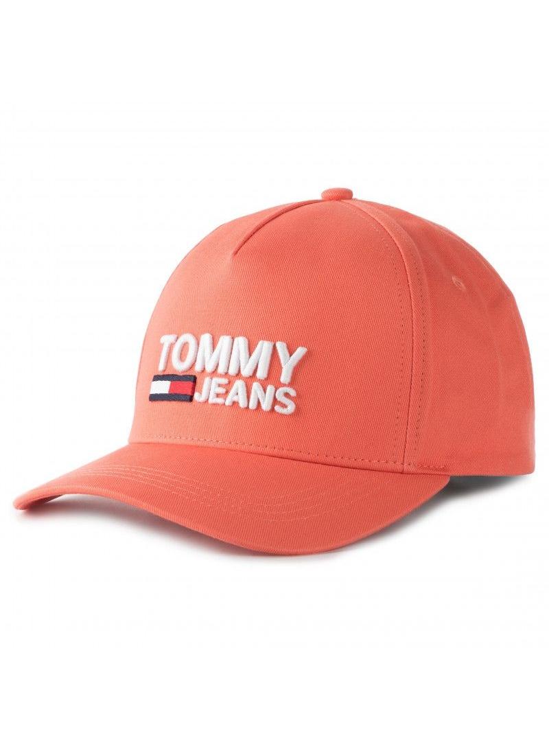 Pomarańczowa Czapka z Daszkiem TOMMY HILFIGER Tjw Logo Cap AW0AW07037 674