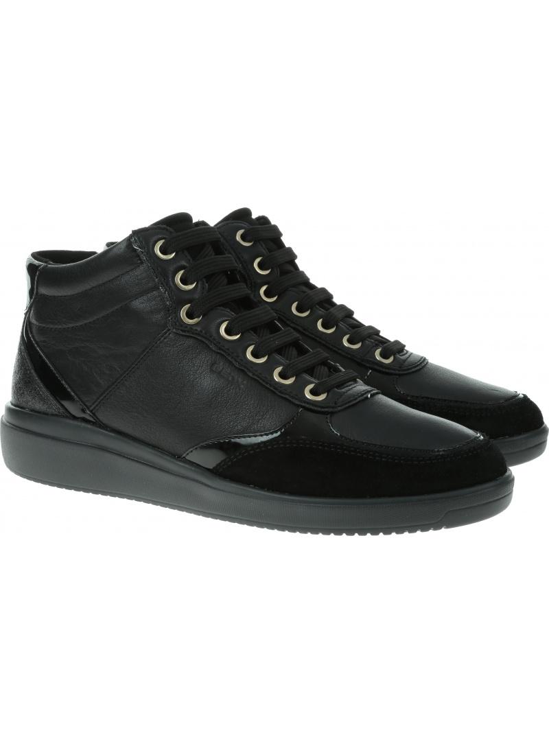 Czarne Sneakersy GEOX Respira D Tahina E D94BDE 08522 C9999 Black