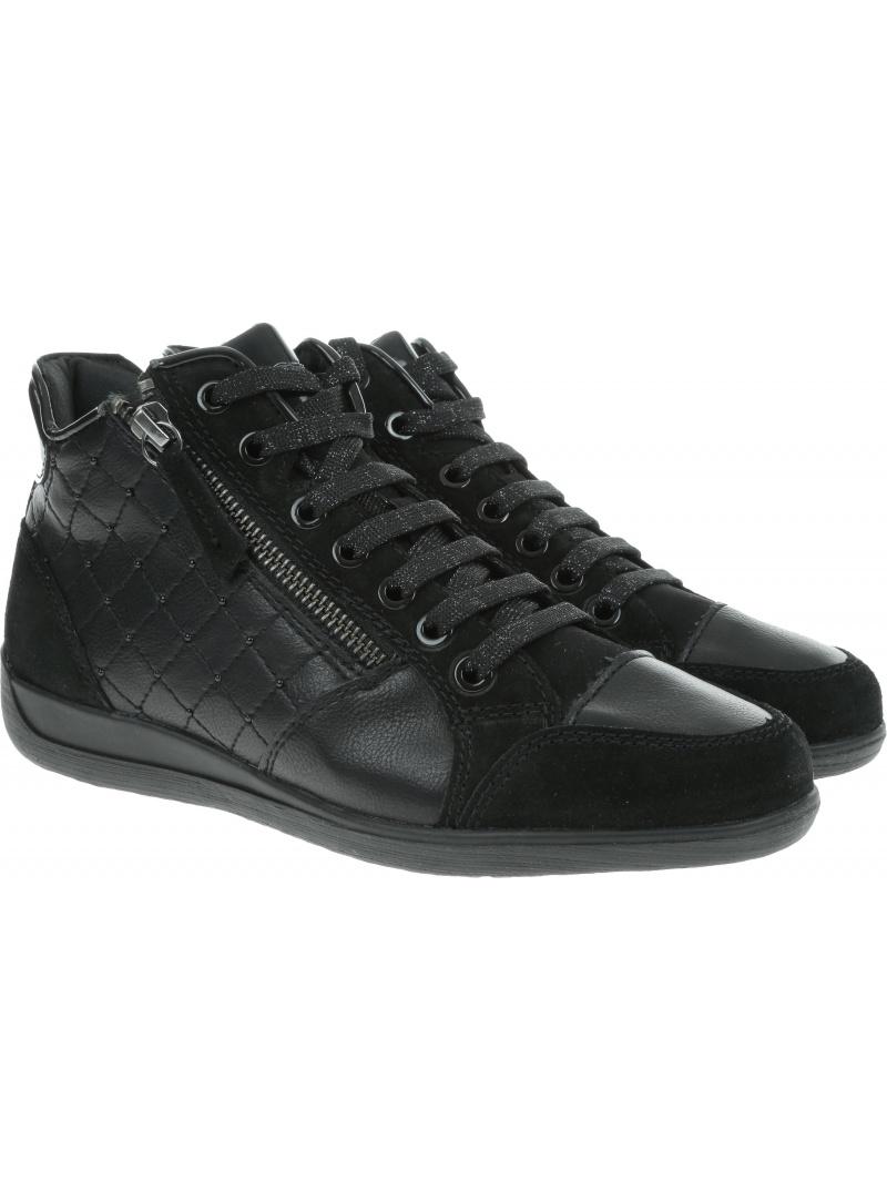 Czarne Sneakersy GEOX Respira D Myria C D6468C 05422 C9999 Black
