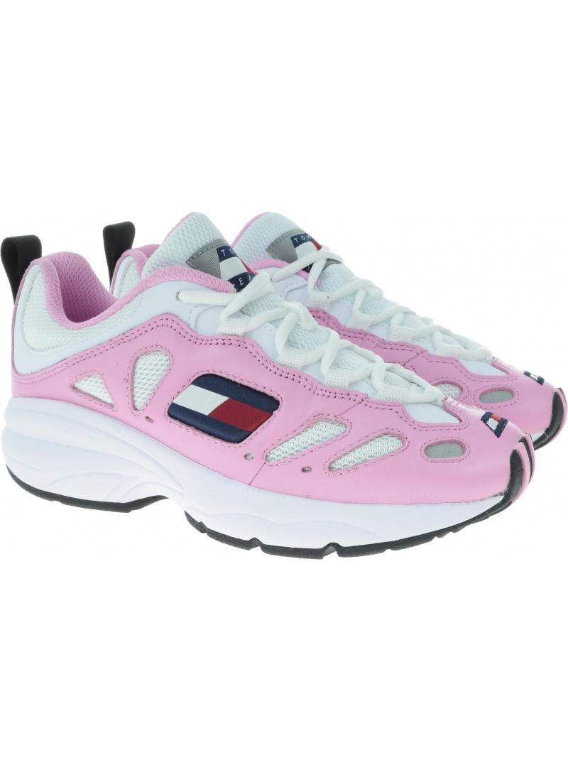 Różowe Sneakersy Tommy Hilfiger Tommy Jeans Retro Sneaker EN0EN00584 901