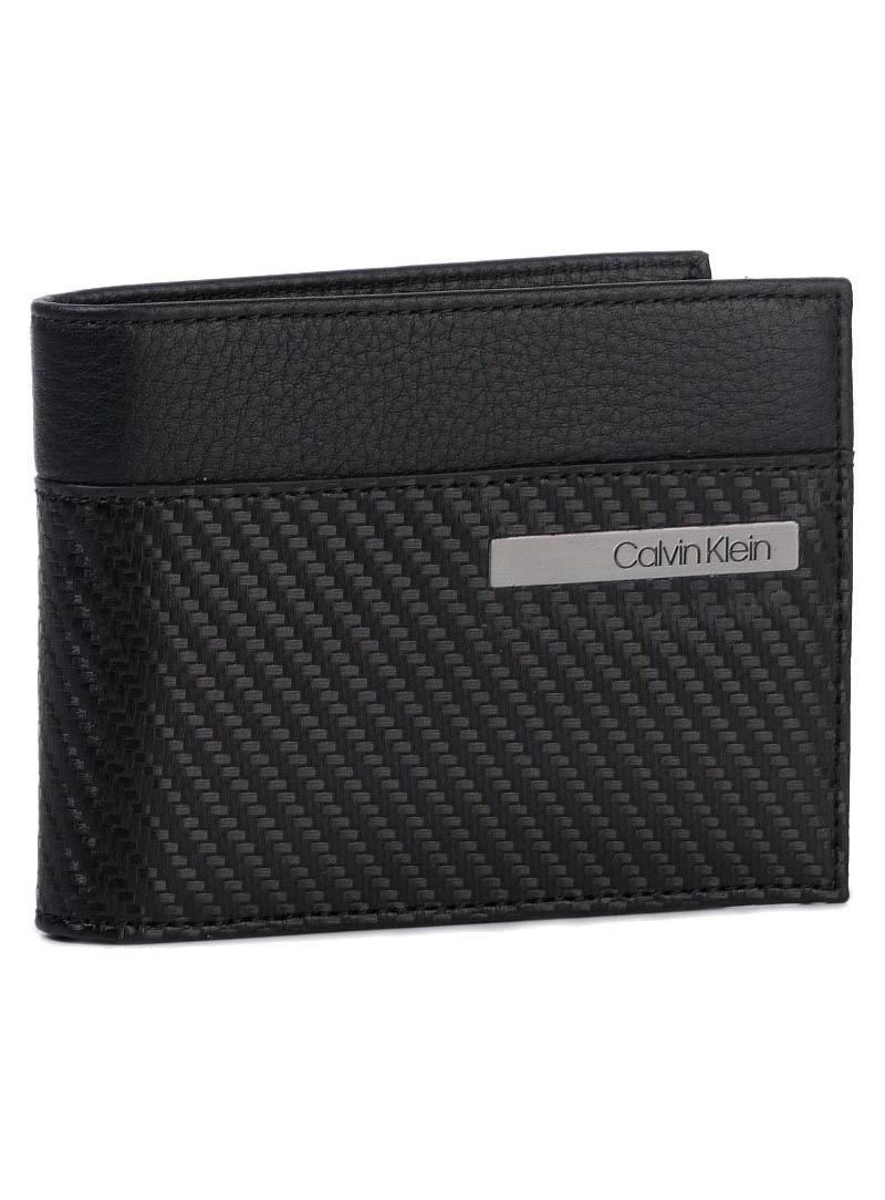 Duży Portfel Męski CALVIN KLEIN JEANS Carbon Leather 5 Cc Coin K50K504865