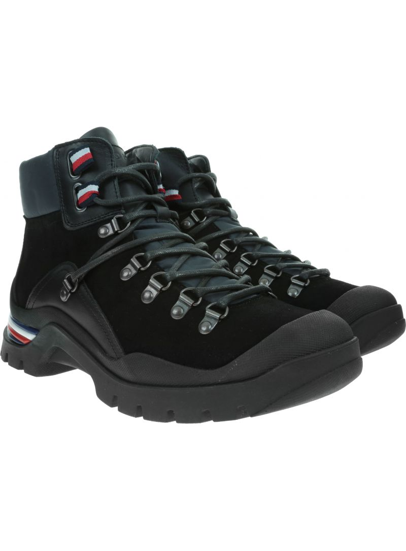 Trzewiki TOMMY HILFIGER Corporate Outdoor Boot FM0FM02414 Black 990