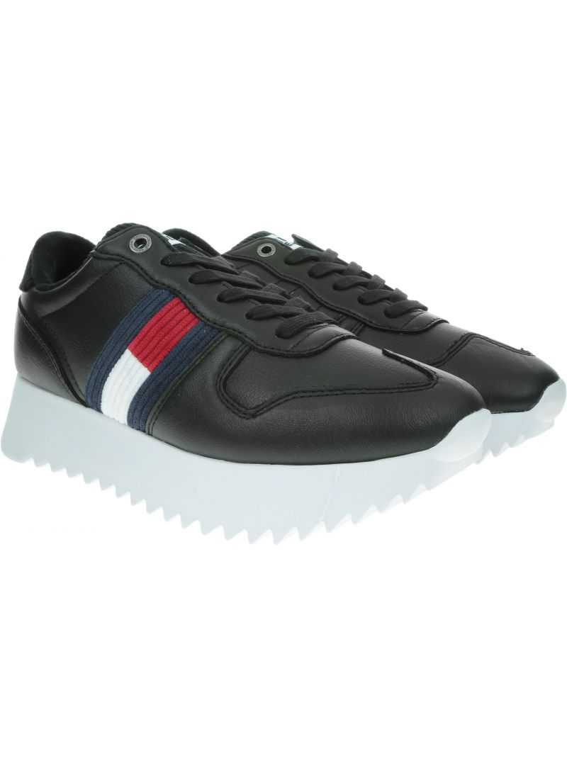 Czarne Sneakersy Tommy Hilfiger TOMMY JEANS High Cleated Seasonal Sneaker