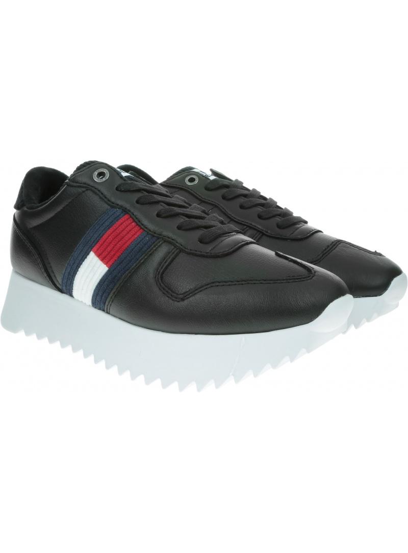 Czarne Sneakersy Tommy Hilfiger TOMMY JEANS High Cleated Seasonal Sneaker