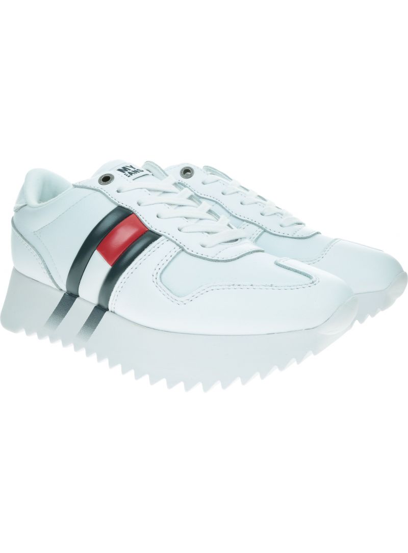 Białe Sneakersy TOMMY JEANS Corporate Sneaker EN0EN00695 White YBS