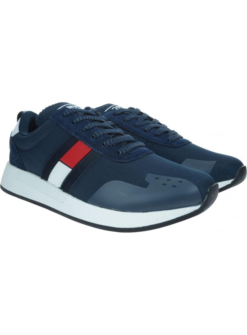 Granatowe Sneakersy TOMMY HILFIGER Flag Flexi Tommy Jeans Sneaker