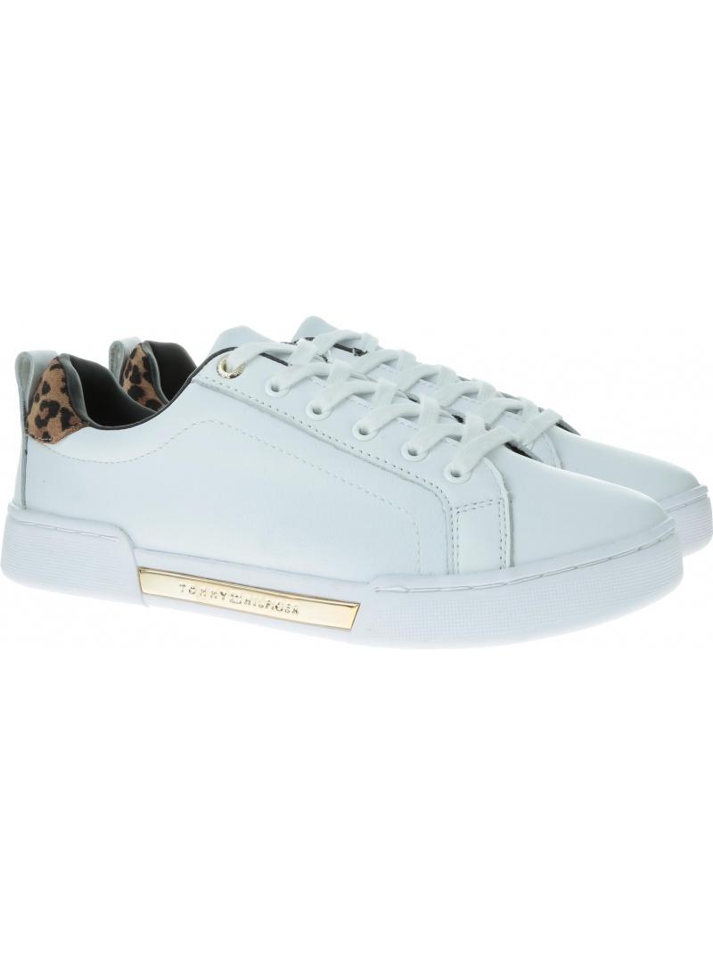 Białe Sneakersy TOMMY HILFIGER Branded Leo Print Sneaker FW0FW04301 YBS