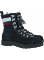Granatowe Trapery Botki TOMMY HILFIGER Padded Nylon Lace Up Boot