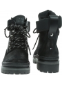 Czarne Trapery TOMMY HILFIGER Sporty Outdoor Lace Up Bootie FW0FW04343 BDS