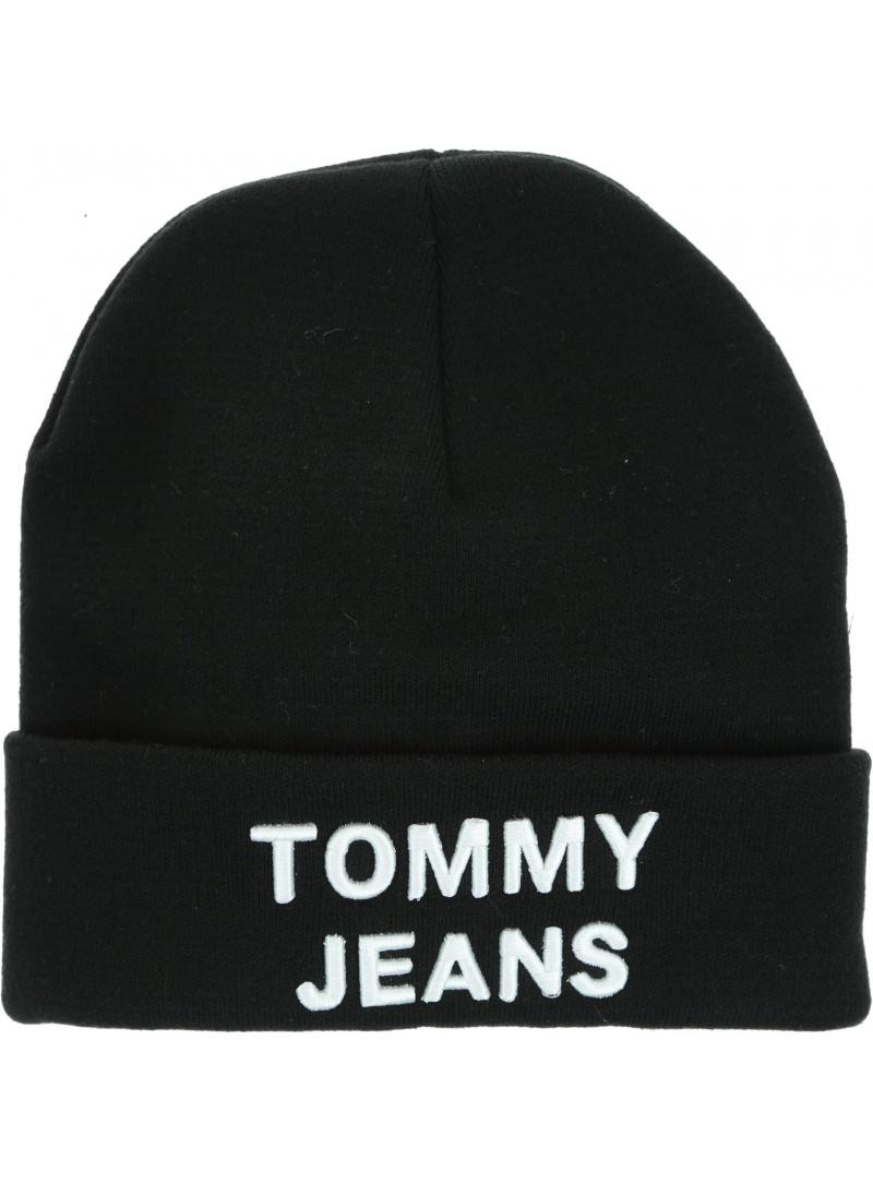 Czarna Czapka TOMMY JEANS Tjm Logo Beanie AM0AM05205 BDS