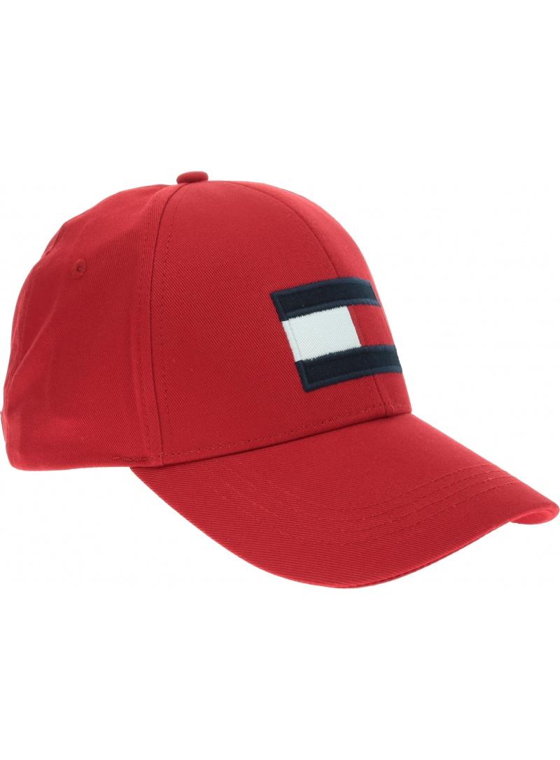 Czerwona Czapka z daszkiem TOMMY HILFIGER Big Flag Cap AM0AM04508 659