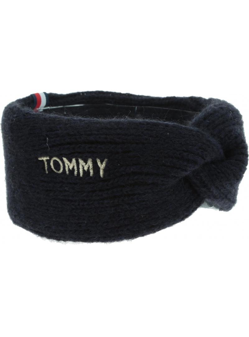 Czarna Opaska TOMMY HILFIGER Effortless Headband AW0AW07174 CJM