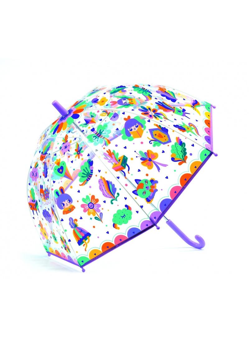 Transparentna Parasolka Dziecięca Z Tęczą DJECO Tęcza DD04705