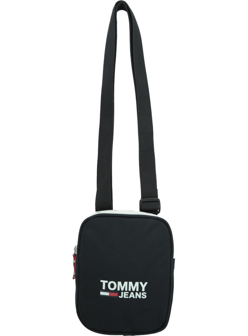 Czarna Saszetka TOMMY HILFIGER TJM COOL CITY COMPACT BLACK AM0AM05106 BDS