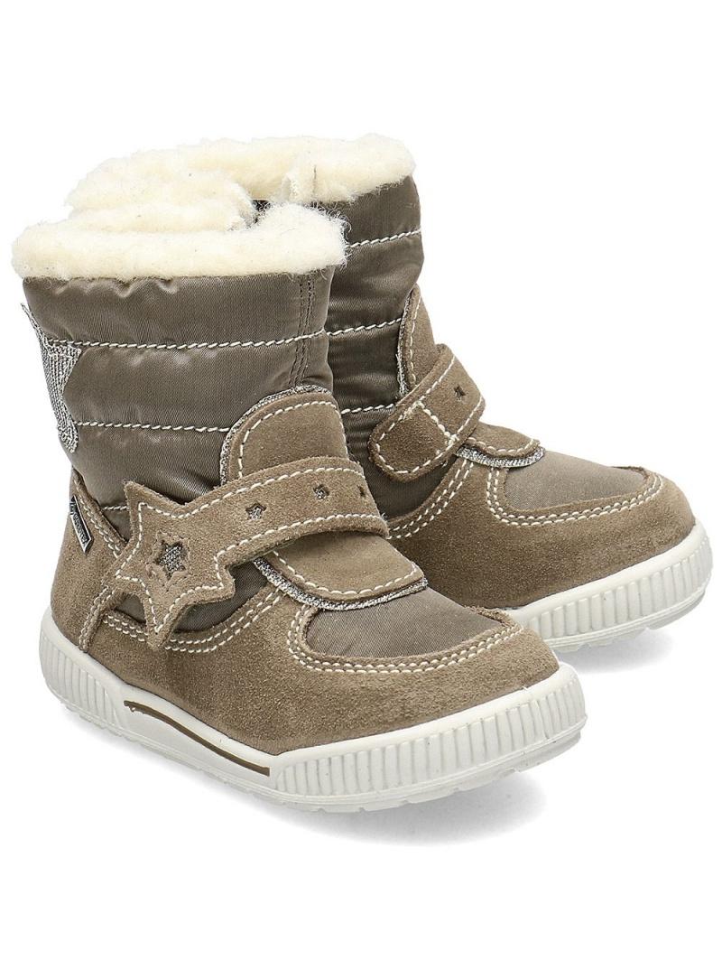 Beżowe Śniegowce Kozaki PRIMIGI GORE-TEX 4369411 Marm