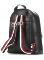 Czarny Plecak TOMMY HILFIGER Iconic Tommy Backpack Solid AW0AW07327 BDS