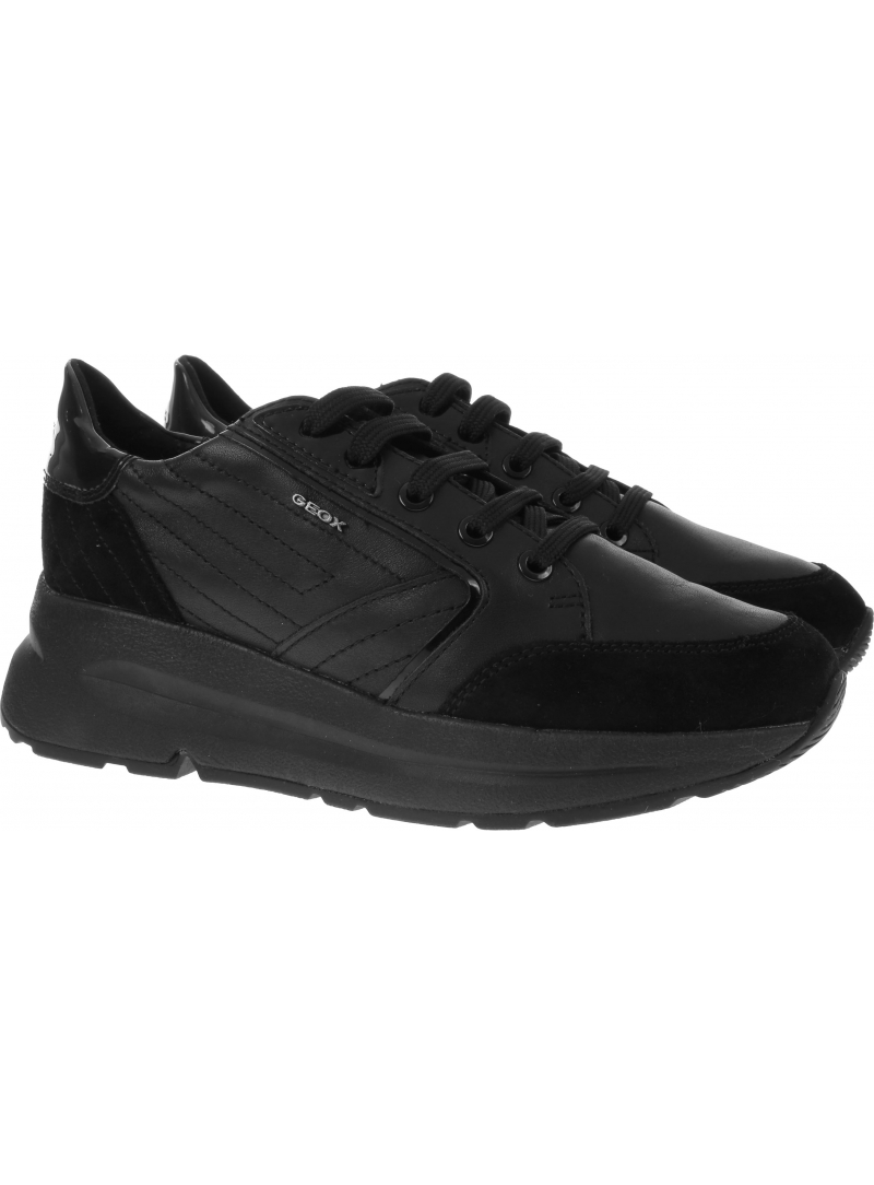 Czarne Sneakersy GEOX D Backsie A D94FLA 08522 C9999 Black