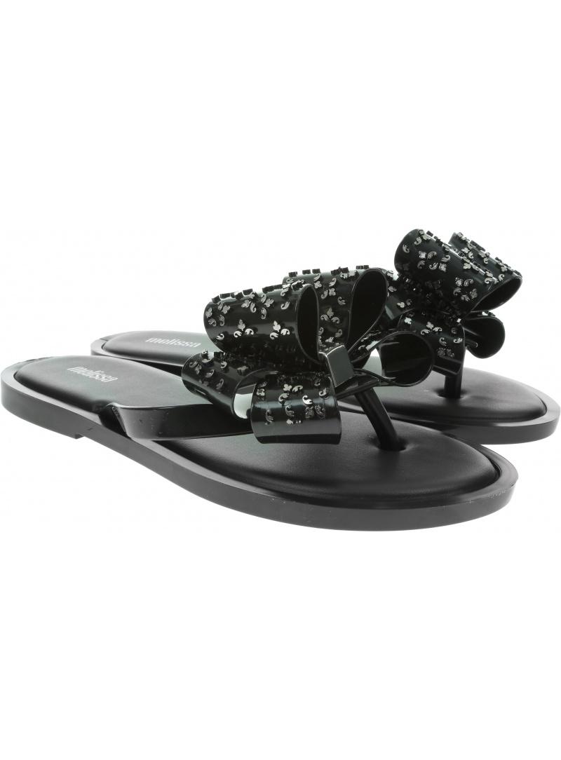 Czarne Japonki MELISSA Flip Flop Sweet Ad 32447 Black/Onix 52155