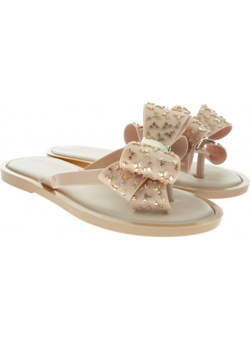 Beżowe Japonki MELISSA Flip Flop Sweet Ad 32447 Beige/Gold 50851
