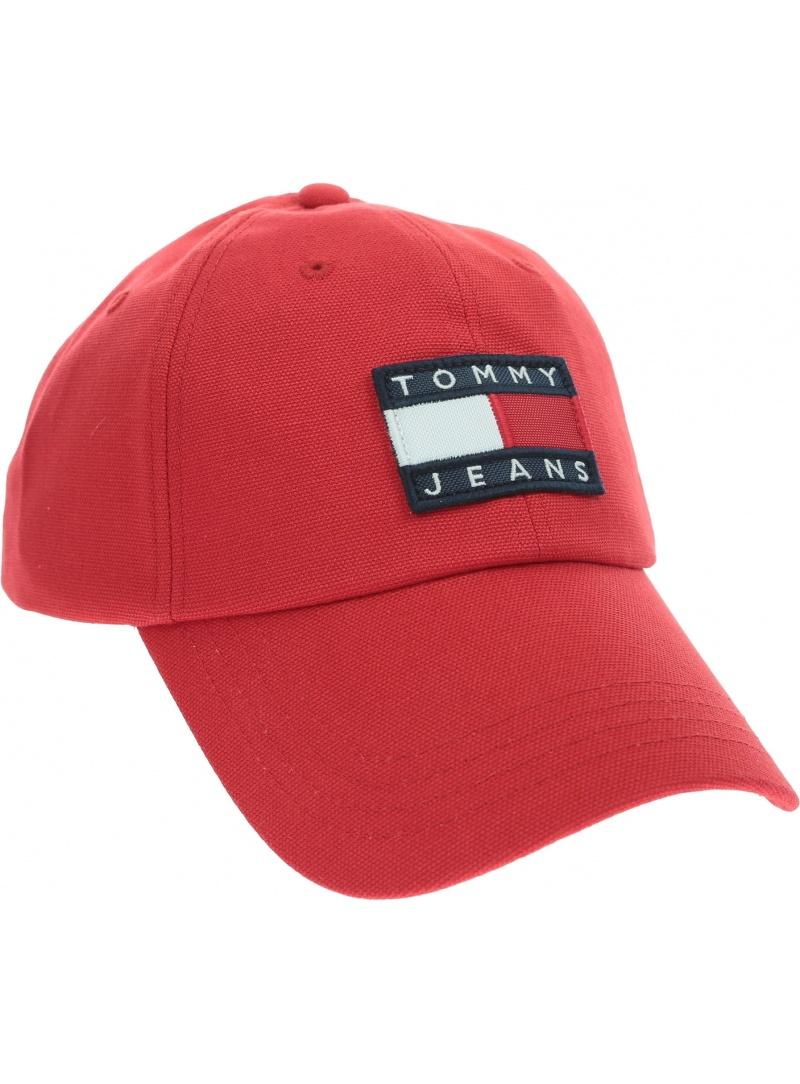 Czerwona Czapka z daszkiem TOMMY HILFIGER Tjm Heritage Cap AM0AM05953 XA9