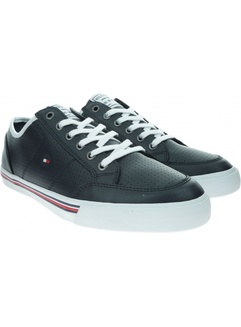 Sneakersy Męskie TOMMY HILFIGER Core Corporate Leather Sneaker FM0FM02677