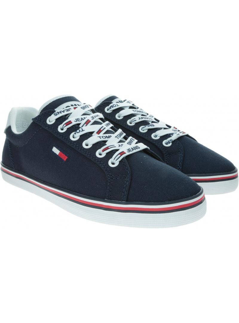 Sneakersy Damskie TOMMY HILFIGER Essential Lace Up Sneaker EN0EN00786 C87