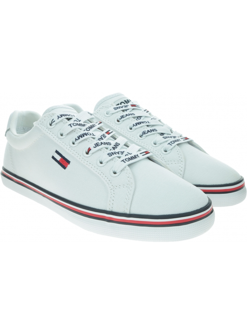 Sneakersy Damskie TOMMY HILFIGER Essential Lace Up Sneaker EN0EN00786 YBS