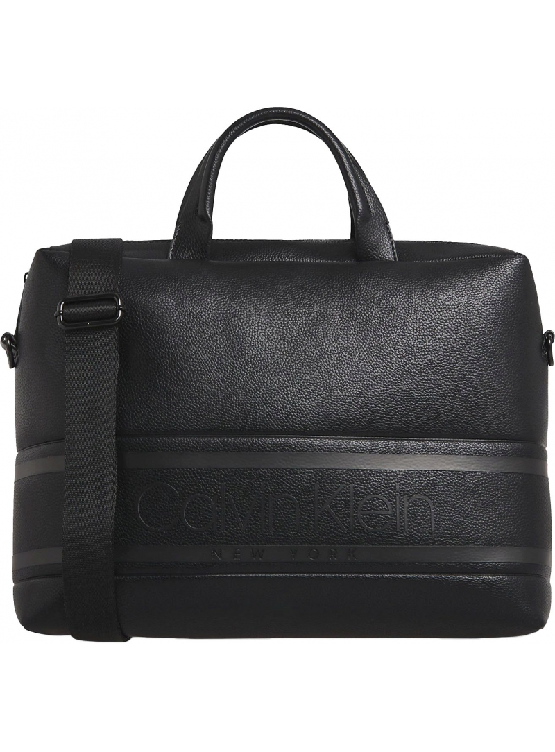 Torba na laptopa CALVIN KLEIN Striped Logo Pu Laptop Bag K50K505650 BAX