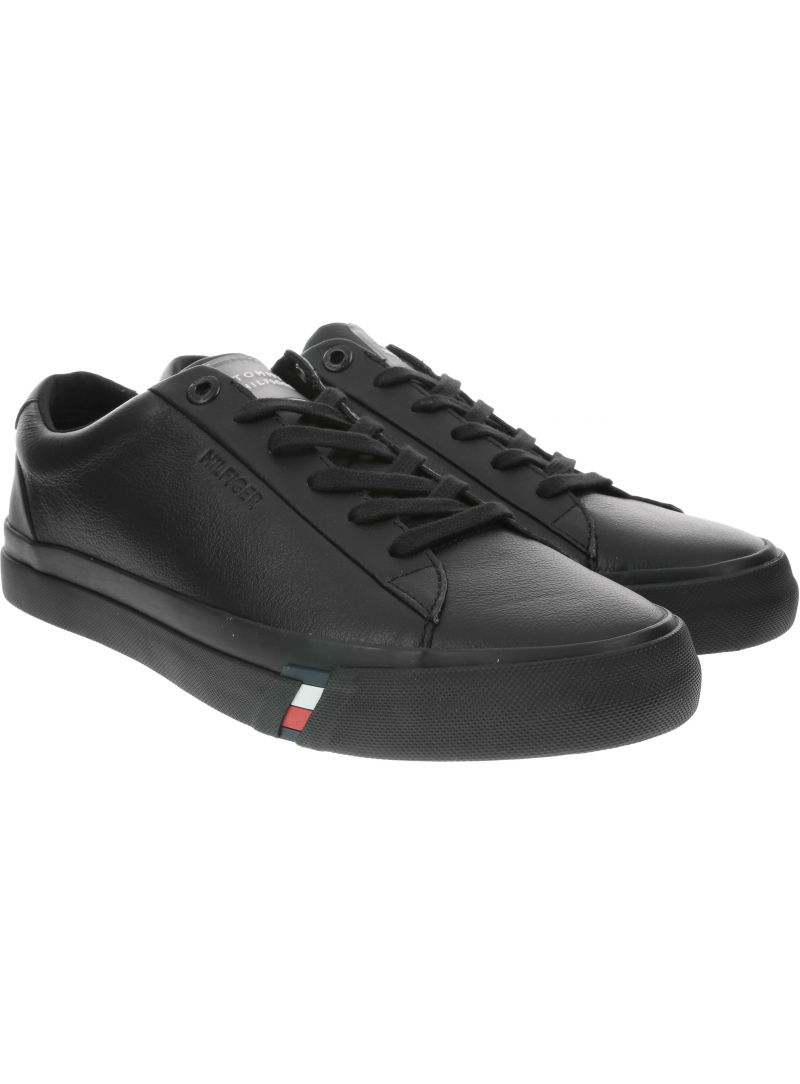 Sneakersy Męskie TOMMY HILFIGER Corporate Leather Sneaker FM0FM02672 BDS
